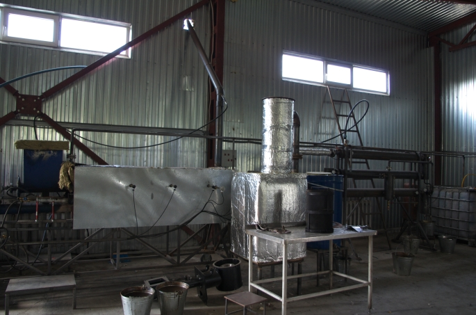 Pyrolysis machinery. This is the foreseeable future for Kaharlyk. Once testing is complete and everything figured out, this will be able to convert food and plant waste into usable fuel that can be used for heating or operating machinery such as generators.